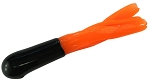 CRAPPIE TUBES  2 INCH  2HT-28   BLACK-ORANGE   10-PACK