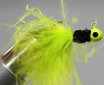 MARABOU CRAPPIE JIG - 6-CARD CHART-BLACK-CHARTREUSE