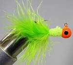 MARABOU CRAPPIE JIG - 6-CARD PINK-CHARTREUSE-CHARTREUSE
