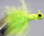 MARABOU CRAPPIE JIG - 6-CARD CHARTREUSE-CHARTREUSE-CHARTREUSE