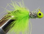 MARABOU CRAPPIE JIG - 6-CARD CHART-SILVER-CHARTREUSE