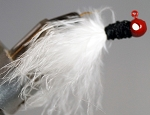 MARABOU CRAPPIE JIG - 6-CARD RED/BLACK/WHITE