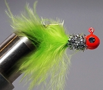 MARABOU CRAPPIE JIG - 6-CARD PINK-SILVER-CHARTREUSE