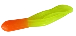 CRAPPIE TUBES  1.5 INCH   HT-05   ORANGE-CHARTREUSE   10-PACK