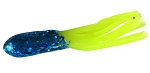 CRAPPIE TUBES   SPARKLE HEAD  1-1/2 INCH  SH-05  BLUE-CHARTREUSE   10-PACK